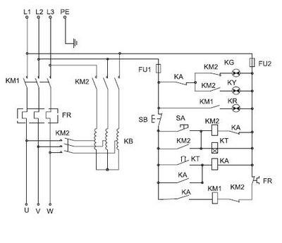 自耦减压配电柜接线图
